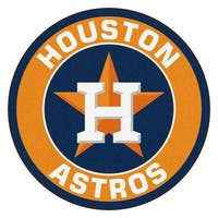 MLB Houston Astros Rounded Non-Skid Mat Area Rug