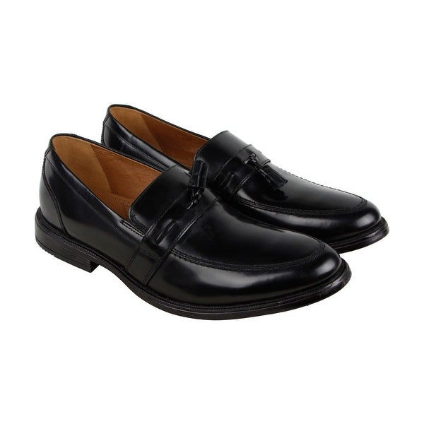 Bostonian Kinnon Step Mens Black Leather Casual Dress Slip On Loafers Shoes