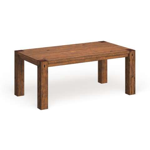 Furniture of America Maiz Rustic Oak 72-inch Solid Wood Dining Table