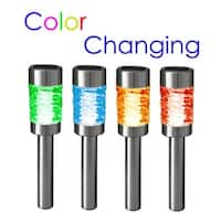Set of 4 Solar Power Landscape Lawn Pathway Color Changing Stake Lights