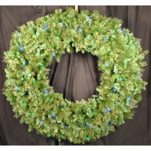 Christmas at Winterland WL-GWBM-06-L5M 6 Foot Pre-Lit Multicolor LED Blended Pine Wreath