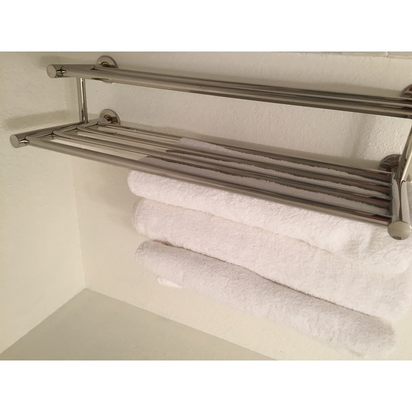 562e42250 Shop Costway Wall Mounted Towel Rack Bathroom Hotel Rail Holder Storage  Shelf Stainless Steel - Free Shipping On Orders Over  45 - Overstock -  18522334