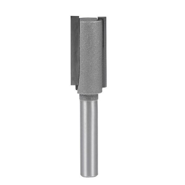 "Router Bit 1/4 Shank 1/2"" Cutting Dia 2 Straight Flutes Carbide Cutter DIY Tool"