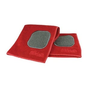 Mukitchen 6658-0906 Microfiber Dish Cloth With Scrubber, Cotton, Crimson