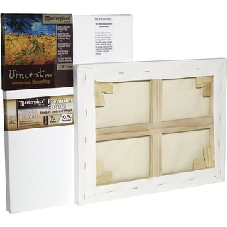 Masterpiece Vincent MasterWrap Pro MuseumWrap Wood Drum Tight Stretched Canvas, 14 X 18 in