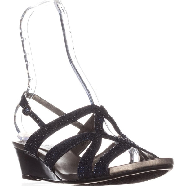 Bandolino Gomeisa Slingback Wedge Sandals, Navy
