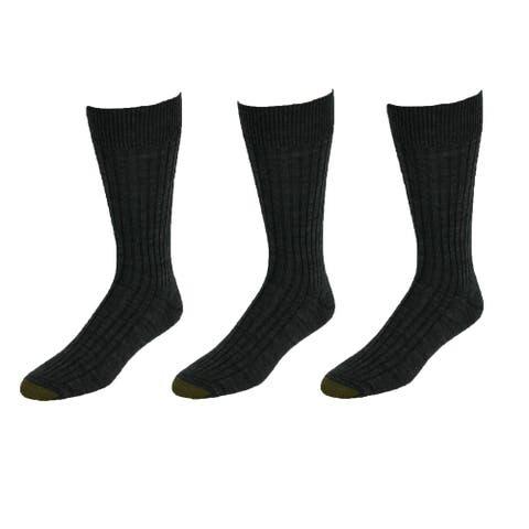 Gold Toe Men's Windsor Wool Socks (Pack of 3), Shoe Size 6 - 12 1/2