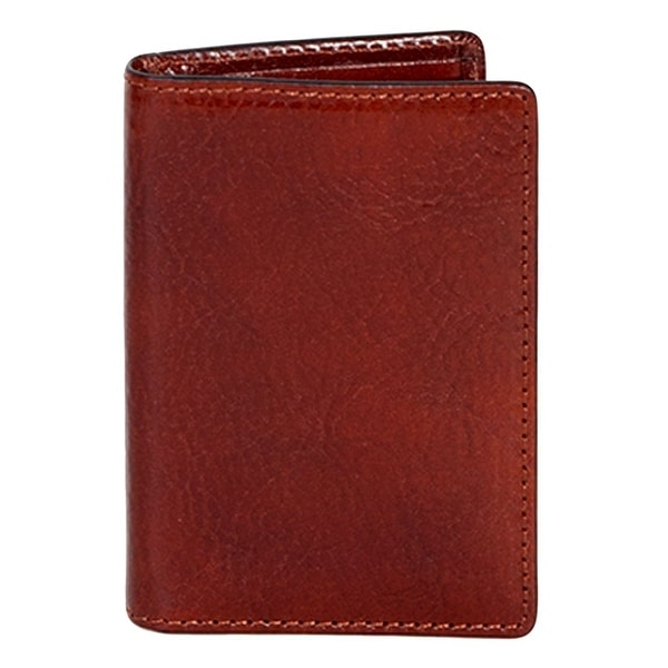 Scully Western Wallet Italian Leather Pocket Wallet Mahogany - One size