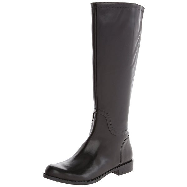 Nine West Womens Contigua Leather Almond Toe Knee High Fashion Boots