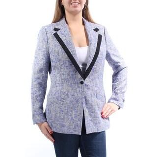 ANNE KLEIN $159 Womens New 1307 Purple Blazer Wear To Work Jacket 14 B+B