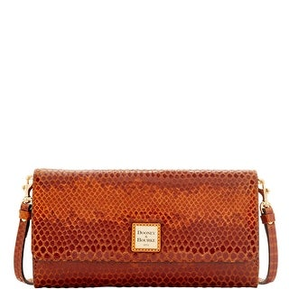 Dooney & Bourke Snake Crossbody Clutch (Introduced by Dooney & Bourke at $198 in Jul 2016) - Saddle