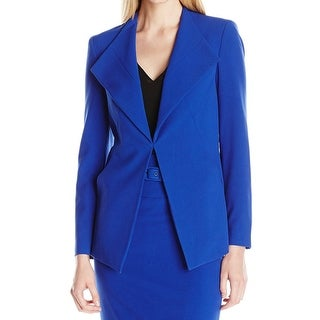 Nine West NEW Royal Blue Women's Size 4 Stretch Lapel Collar Jacket