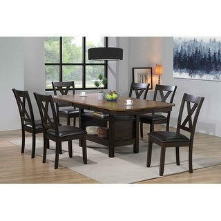 Link to 7 - Piece Dining Set With Storage Veneer Top Similar Items in Dining Room & Bar Furniture