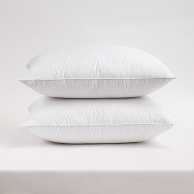 Cotton Quilted Pillow Hotel Collection by Cozy Classics - White