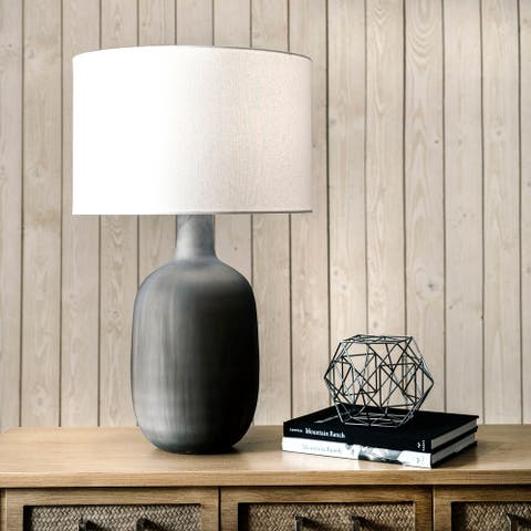 """nuLOOM Boise 28"""" Glass Table Lamp"""