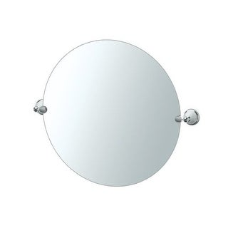 "Gatco 5726R Franciscan 25""x25"" Wall-Mounted Frameless Round Mirror"