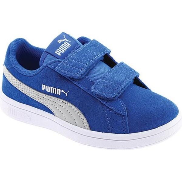 competitive price ddfa4 c1362 Shop PUMA Children's Smash V2 Suede V PS Sneaker Strong Blue ...