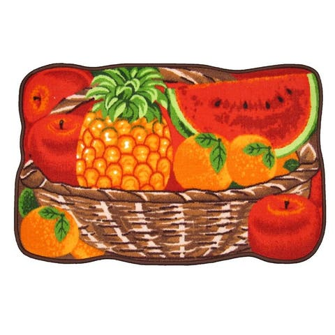 Juicy Fruits Printed Non-Slip Kitchen Mat, 18x30 Inches
