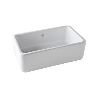 "Rohl RC3018 Shaws 30"" Single Basin Farmhouse Fireclay Kitchen Sink"