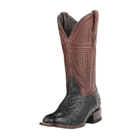 Stetson Western Boots Mens Dillon Leather Black