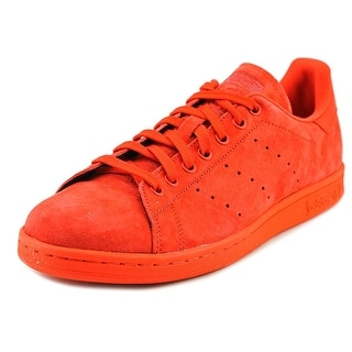 Adidas Stan Smith Men Round Toe Suede Red Sneakers