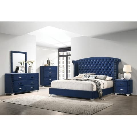 Chantel 4-piece Tufted Upholstered Bedroom Set