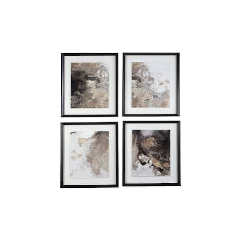 Hallwood Contemporary Multi-Color Abstract Wall Art - Set of 4