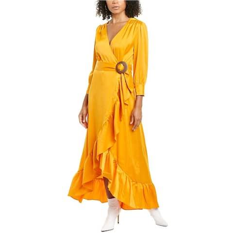 Wayf Savoia Belted Midi Dress