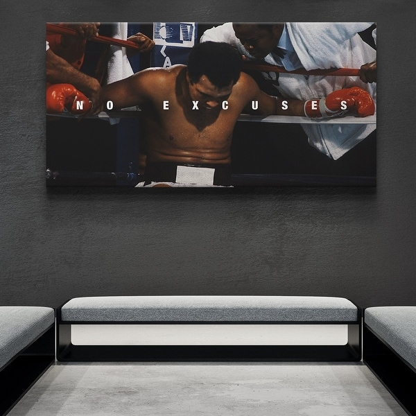 IKONICK Muhammad Ali - No Excuses Canvas Art