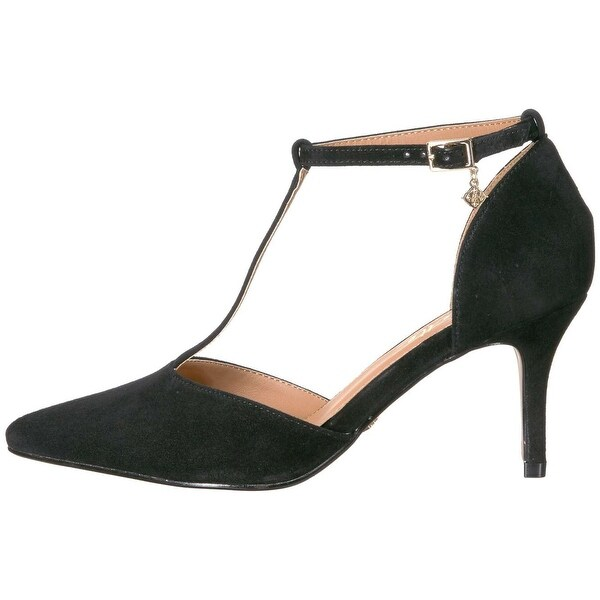 Nanette Lepore Womens Sabrina Leather Pointed Toe T-Strap D-orsay Pumps - 10
