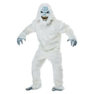 Adult Snow Beast Monster Halloween Costume - standard - one size