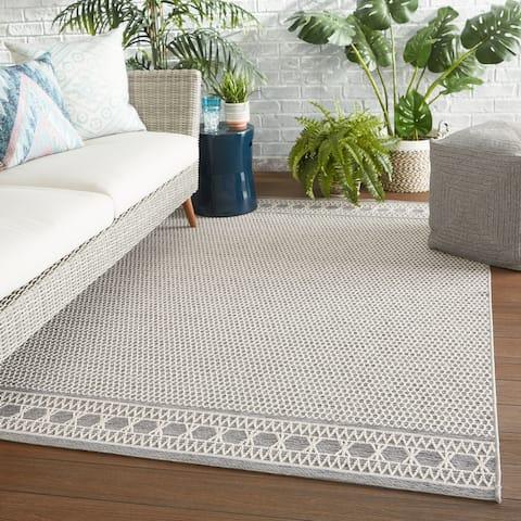 Alix Indoor/ Outdoor Trellis Gray/ Cream Area Rug