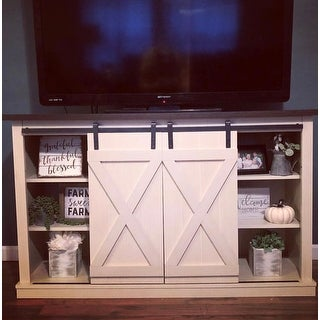 Cottonwood Two-Tone TV Stand for TVs up to 60 inches, Old Wood White