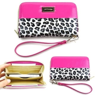 Smartphone Leopard Zipper Wallet Case