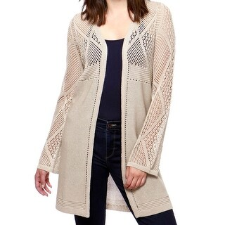 Lucky Brand Beige Womens Size Small S Knitted Cardigan Sweater