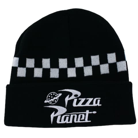 Toy Story Pizza Planet Men's Cuffed Knit Hat, Black