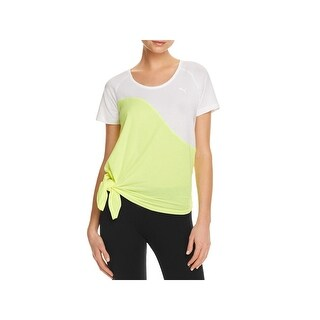 Puma Womens Evo T-Shirt Side Tie Colorblock