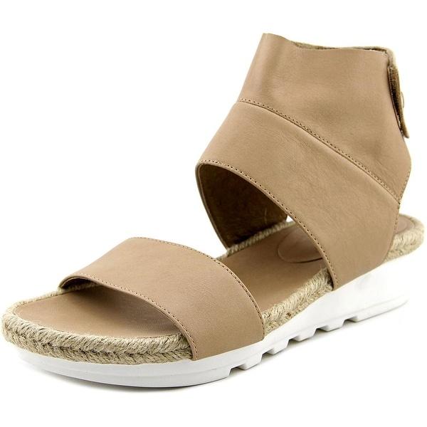 Eileen Fisher Glad Women Open Toe Leather Tan Gladiator Sandal