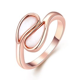 Rose Gold Double Tear Drop Ring
