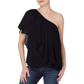 Catherine Malandrino Womens Magritte Peasant Top One Shoulder Fluttery (3 options available)
