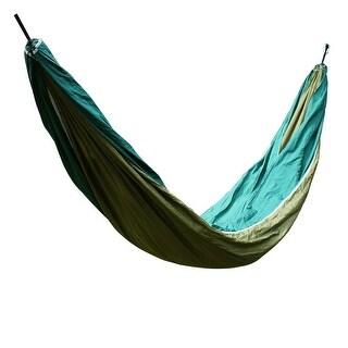 Konoo Authorized Travel Hanging Sleeping Bed Swing Double Hammock Olive Green