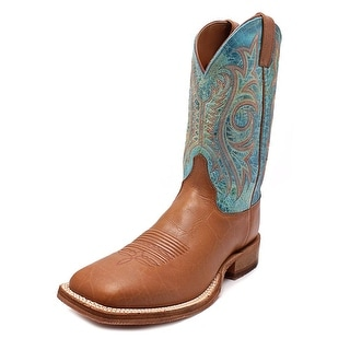Justin Boots Bent Rail 2E Square Toe Leather Western Boot