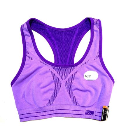 Marika Tek Womens' Reversible Dry Wik Bra - KLB0100S- Amethyst Orchid/Imperial Purple