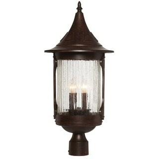 "Designers Fountain 20936-CHN 4 Light 11"" Cast Aluminum Post Lantern from the Canyon Lake Collection"