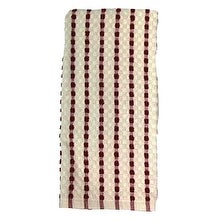 7470 16 x 26 in. Red Striped 100 Percentage Cotton Kitchen Towel, Pack Of 3