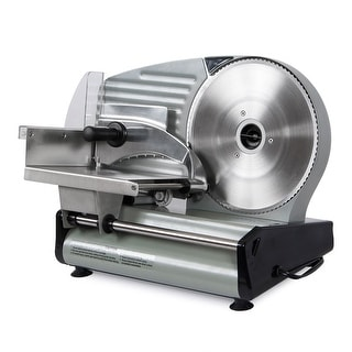 "Della 8.7"" Commercial Style 180W Electric Meat Slicer Blade Deli Cutter Veggies Kitchen CSA, ETL"
