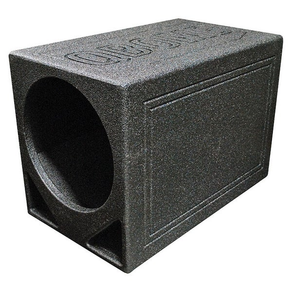 """Qpower Single 12"""" Triangle Ported Finished w/Bed Liner"""