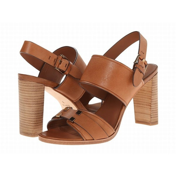 Aerin NEW Brown Shoes Size 9.5M Open Toe Leather Gigi Heels