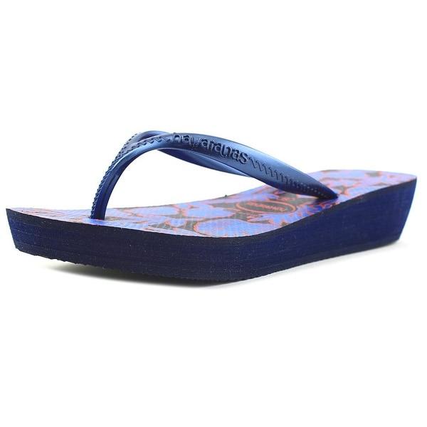 60cb2996ffa021 Shop Havaianas Highlight II Women Open Toe Synthetic Blue Flip Flop ...