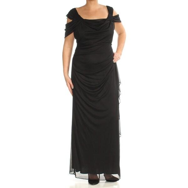 0c6f5505a0 Womens Black Full-Length Empire Waist Evening Dress Size: 14W